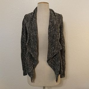 Converse One Star heather grey waterfall cardigan